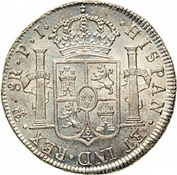 Large Reverse for 8 Reales 1823 coin