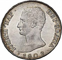 Large Obverse for 8 Reales 1809 coin