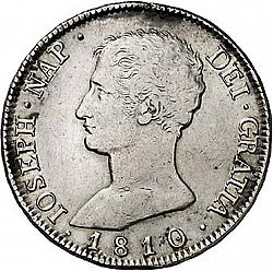 Large Obverse for 8 Reales 1810 coin