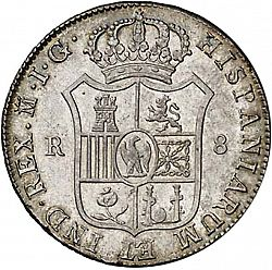 Large Reverse for 8 Reales 1809 coin