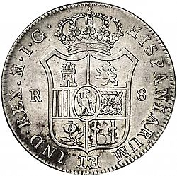 Large Reverse for 8 Reales 1810 coin