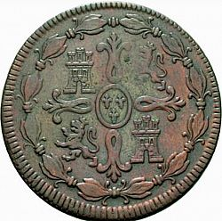 Large Reverse for 8 Maravedies 1772 coin