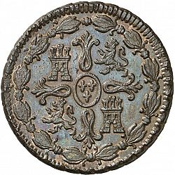 Large Reverse for 8 Maravedies 1799 coin