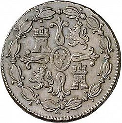 Large Reverse for 8 Maravedies 1807 coin
