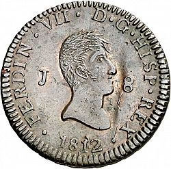 Large Obverse for 8 Maravedies 1812 coin