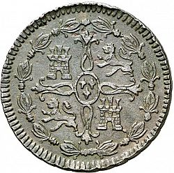 Large Reverse for 8 Maravedies 1812 coin