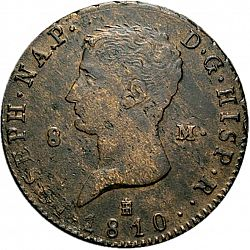 Large Obverse for 8 Marevedies 1810 coin