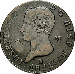 Large Obverse for 8 Marevedies 1811 coin