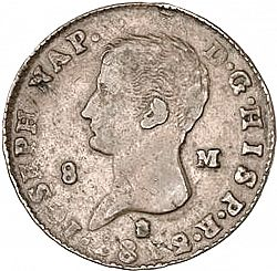 Large Obverse for 8 Marevedies 1812 coin