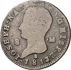 Large Obverse for 8 Marevedies 1813 coin