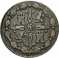 Large Reverse for 8 Marevedies 1811 coin