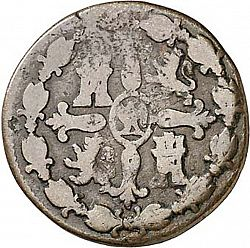 Large Reverse for 8 Marevedies 1813 coin