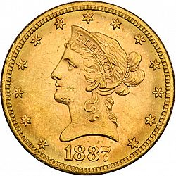 10 dollar 1887 Large Obverse coin