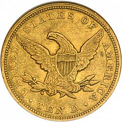 10 dollar 1849 Large Reverse coin