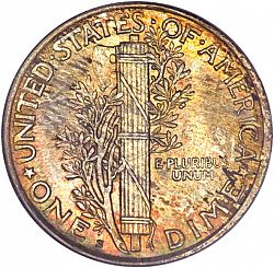 dime 1920 Large Reverse coin