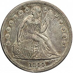 1 dollar 1844 Large Obverse coin