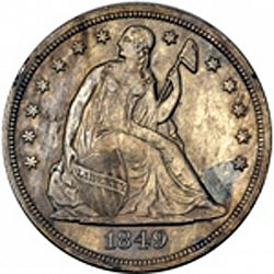 1 dollar 1849 Large Obverse coin