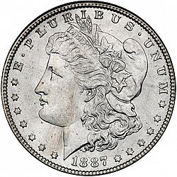 1 dollar 1887 Large Obverse coin