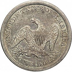 1 dollar 1844 Large Reverse coin