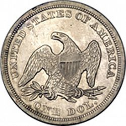 1 dollar 1849 Large Reverse coin