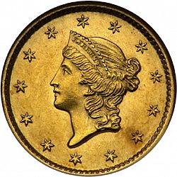 1 dollar - Gold 1849 Large Obverse coin