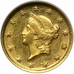 1 dollar - Gold 1850 Large Obverse coin
