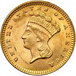 1 dollar - Gold 1874 Large Obverse coin