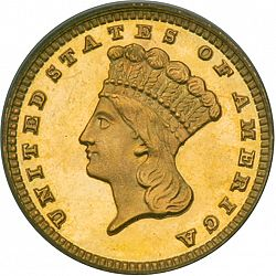 1 dollar - Gold 1881 Large Obverse coin