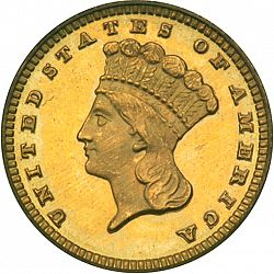 1 dollar - Gold 1882 Large Obverse coin