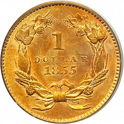 1 dollar - Gold 1855 Large Reverse coin