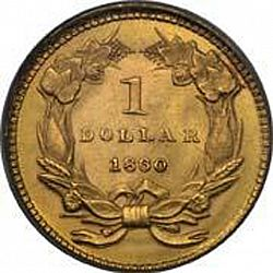 1 dollar - Gold 1860 Large Reverse coin