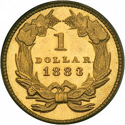 1 dollar - Gold 1883 Large Reverse coin