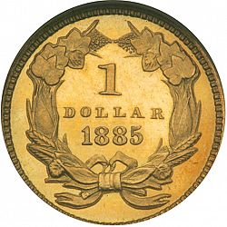 1 dollar - Gold 1885 Large Reverse coin