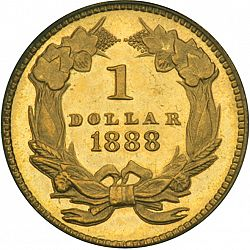 1 dollar - Gold 1888 Large Reverse coin