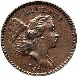 1/2 cent 1794 Large Obverse coin