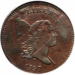 1/2 cent 1797 Large Obverse coin