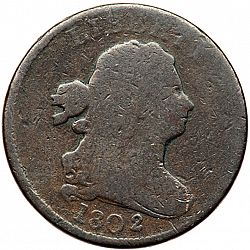 1/2 cent 1802 Large Obverse coin