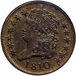1/2 cent 1810 Large Obverse coin
