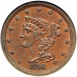 1/2 cent 1856 Large Obverse coin