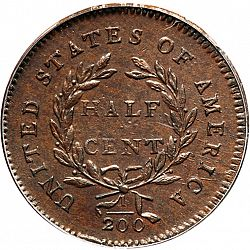 1/2 cent 1794 Large Reverse coin