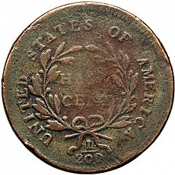 1/2 cent 1796 Large Reverse coin