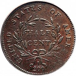 1/2 cent 1797 Large Reverse coin