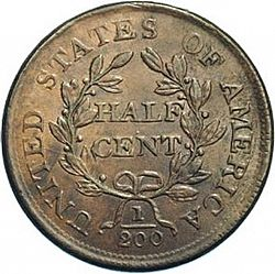 1/2 cent 1804 Large Reverse coin