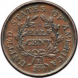 1/2 cent 1805 Large Reverse coin
