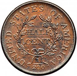 1/2 cent 1806 Large Reverse coin
