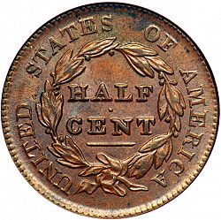 1/2 cent 1829 Large Reverse coin