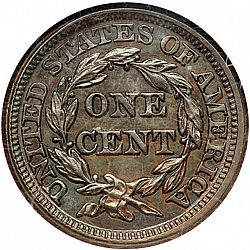 1 cent 1849 Large Reverse coin