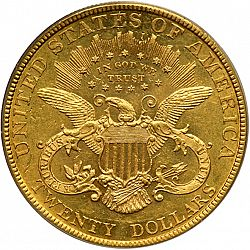20 dollar 1885 Large Reverse coin