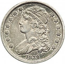 quarter 1838 Large Obverse coin