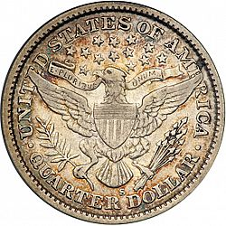 quarter 1896 Large Reverse coin